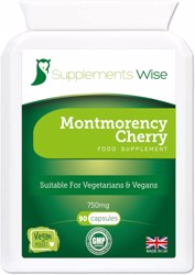 cherry go max 750mg 90 capsules - high strength freeze dried